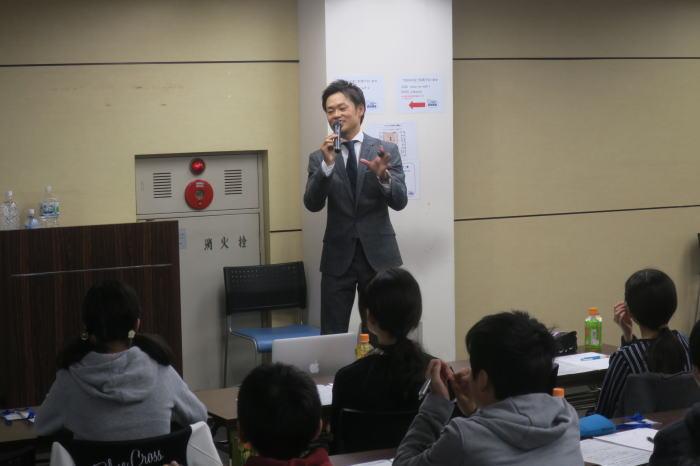 道山ケイの勉強会の様子