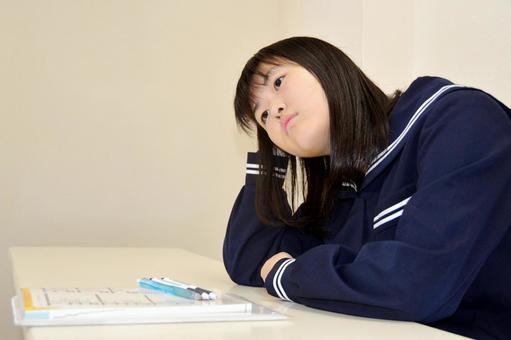 疲れた中学生